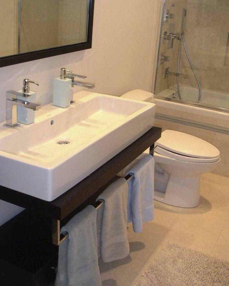 Gorgeous duravit sink in Bathroom Modern with Narrow Sink