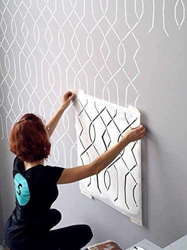 Moorish Trellis Wall Stencil For Painting Expedited 3 Days Delivery Wall Accent Reusable Templ Large Wall Stencil Stencil Painting On Walls Stencils Wall