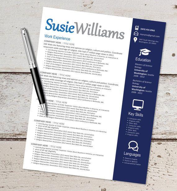 INSTANT DOWNLOAD - Resume Design Template - Microsoft Word - download resume template microsoft word