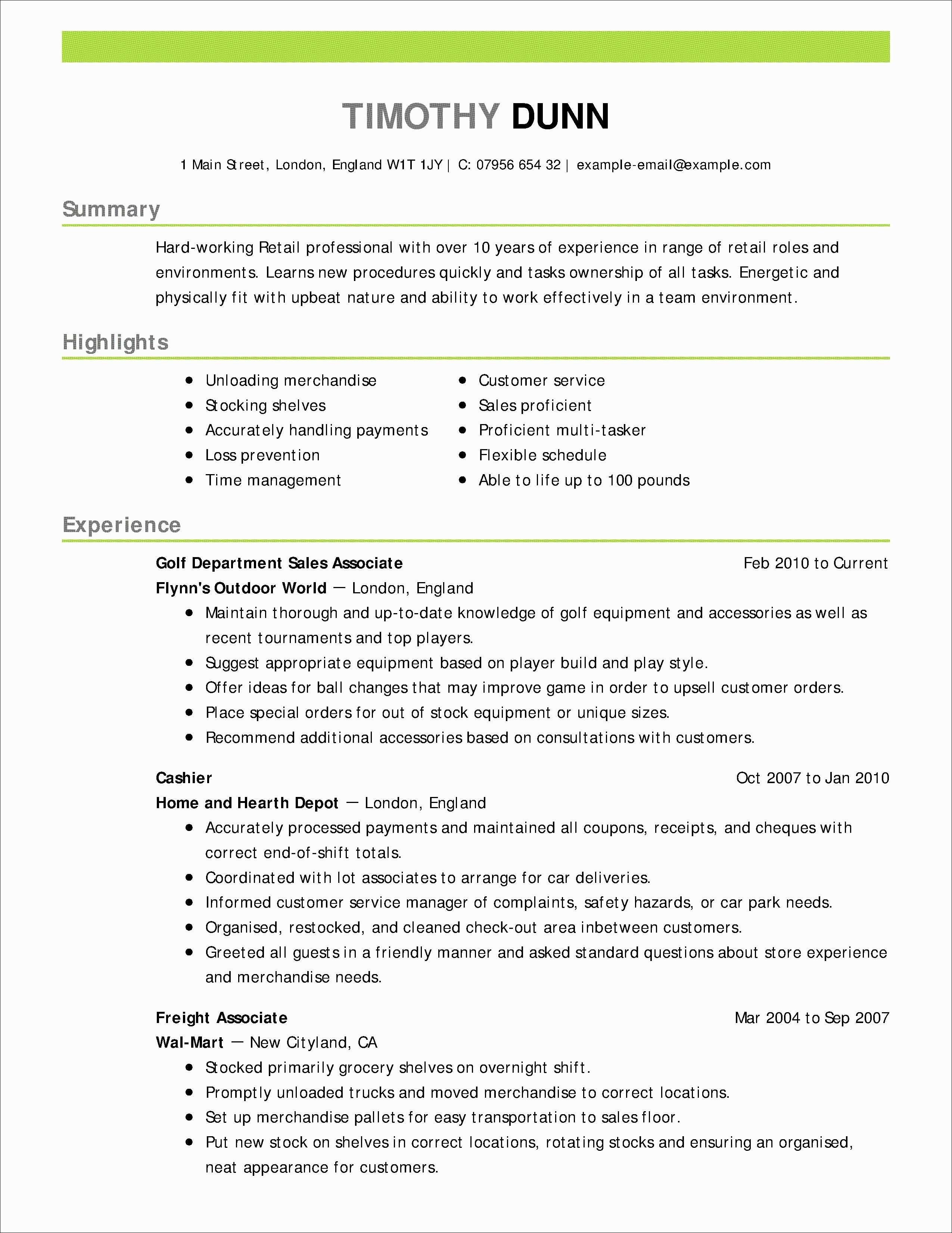 Supply Chain Resume Objective Elegant 9 Resume Objective Examples