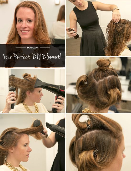 Give Yourself A Kate Middleton Worthy Blowout At Home Kate Middleton Hair Blowout Hair Hair Tutorial