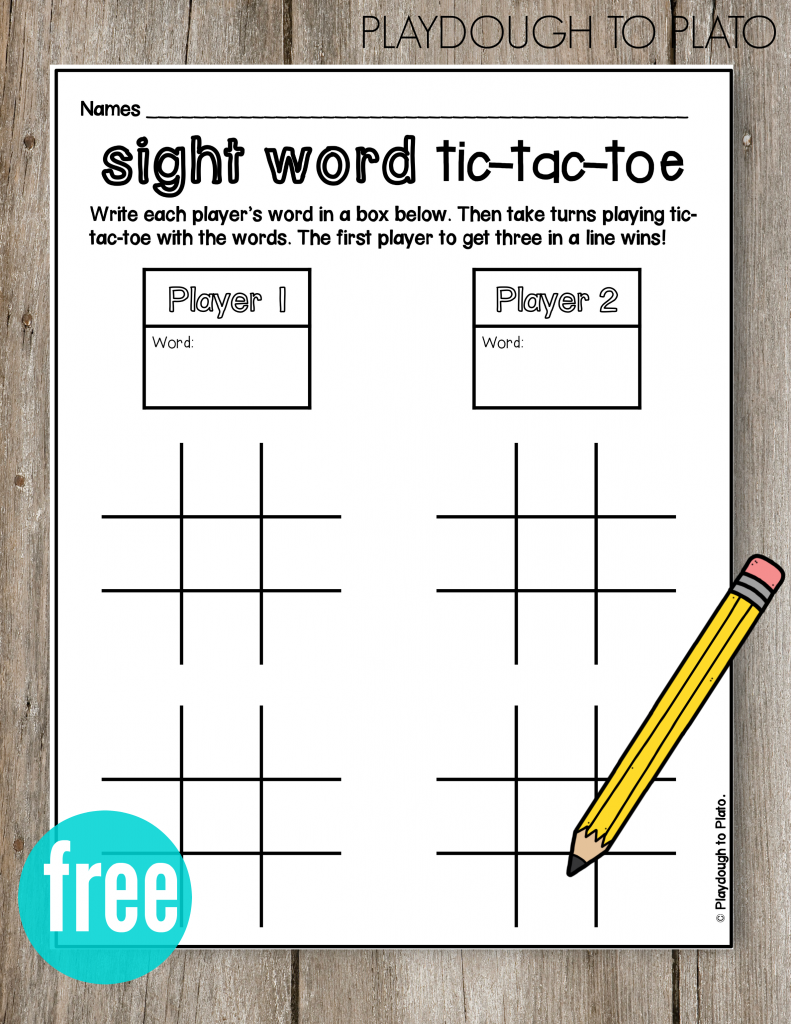 ABC Tic-Tac-Toe | Word games, Tic tac and For kids