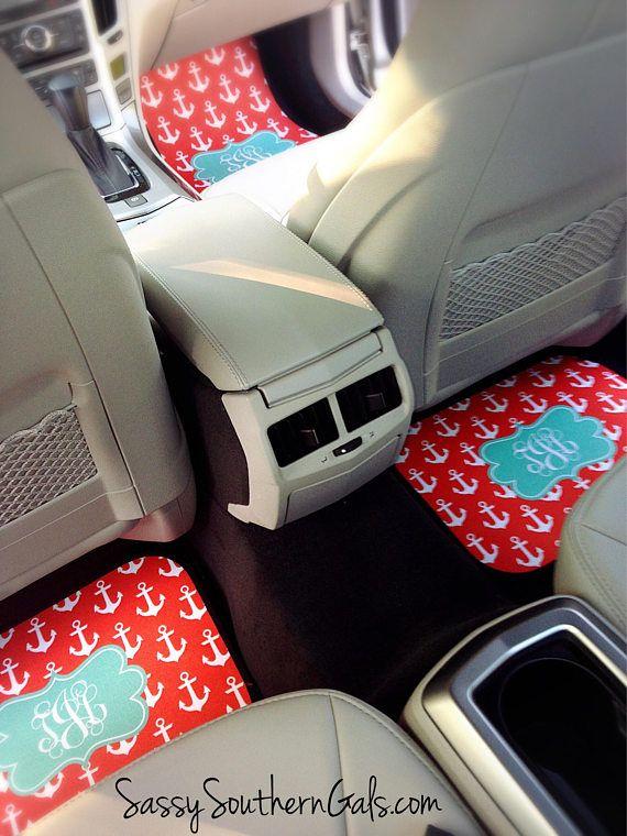 Car Mats Monogram for Women  Car Mats  Monogrammed Car Floor | Etsy