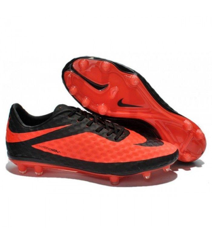 pretty nice 6ad5f 8b354 Acheter Crampon de Foot Nike Hypervenom Phantom Neymar FG Rouge Noir pas  cher en ligne 91