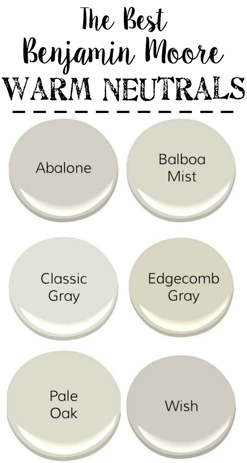 The Best Neutral Paint Colors Blesserhouse From Benjamin Moore With Cool Grays Warm Whites