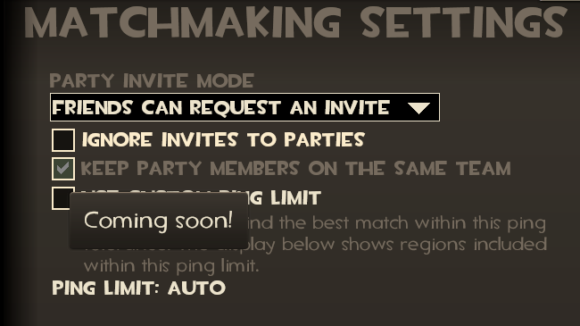 Tf2 matchmaking ping limit