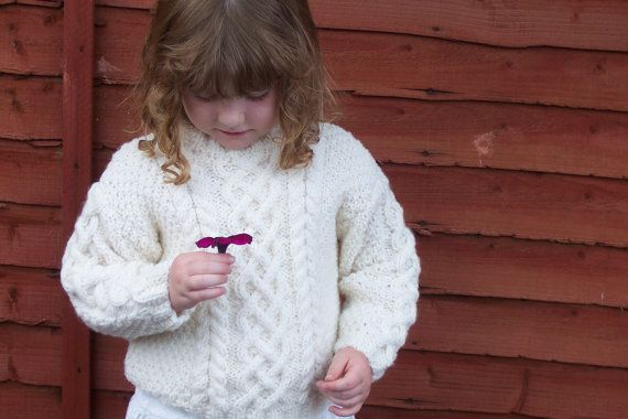 Little Girls Jumper by SquiddlyBeanArans on Etsy