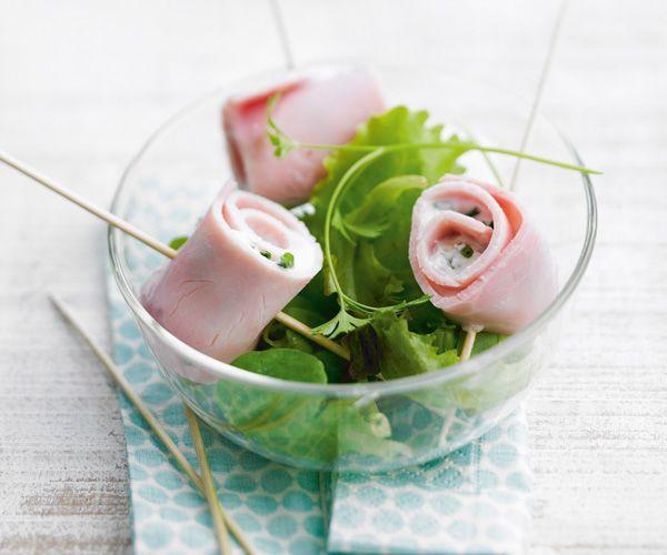 #Salade aux #roulades de #jambon