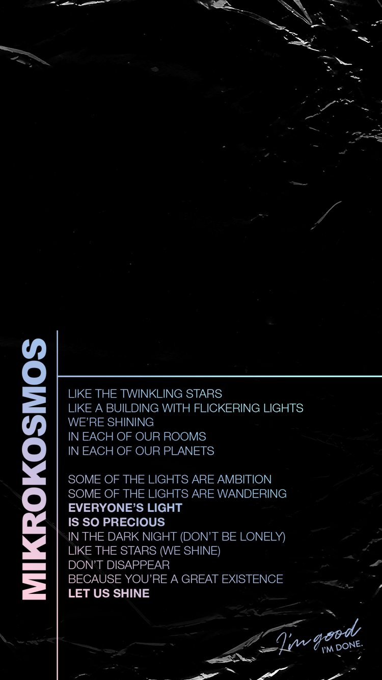 mikrokosmos bts map of the soul persona lyric lockscreens phone