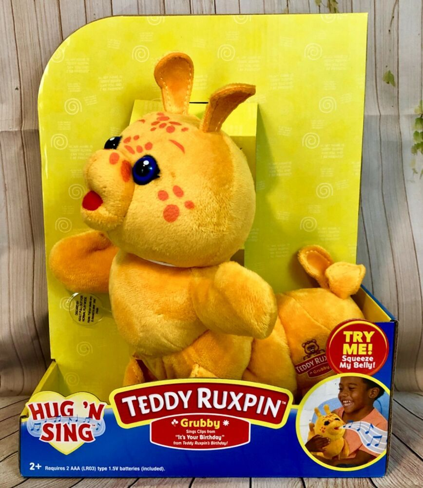 Teddy Ruxpin Grubby Hug N Sing