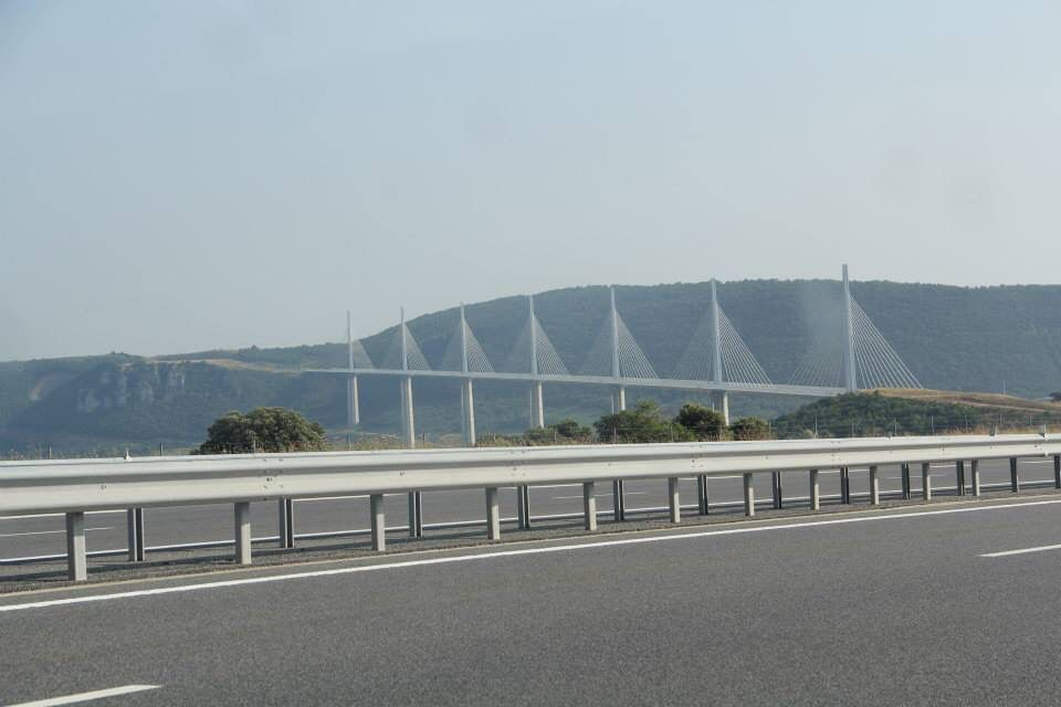 Millau Viaduct France. Nice peace of road for the mini