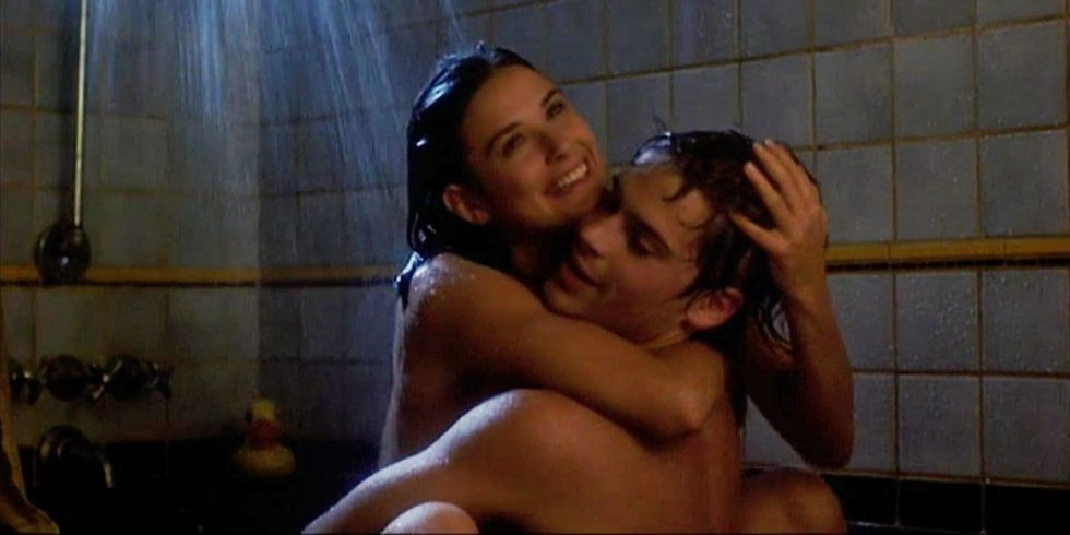In the shower sex movie