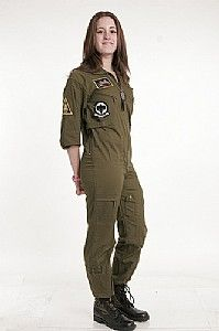 Women s Olive Drab Flight Suit Costume  1102c4adf02