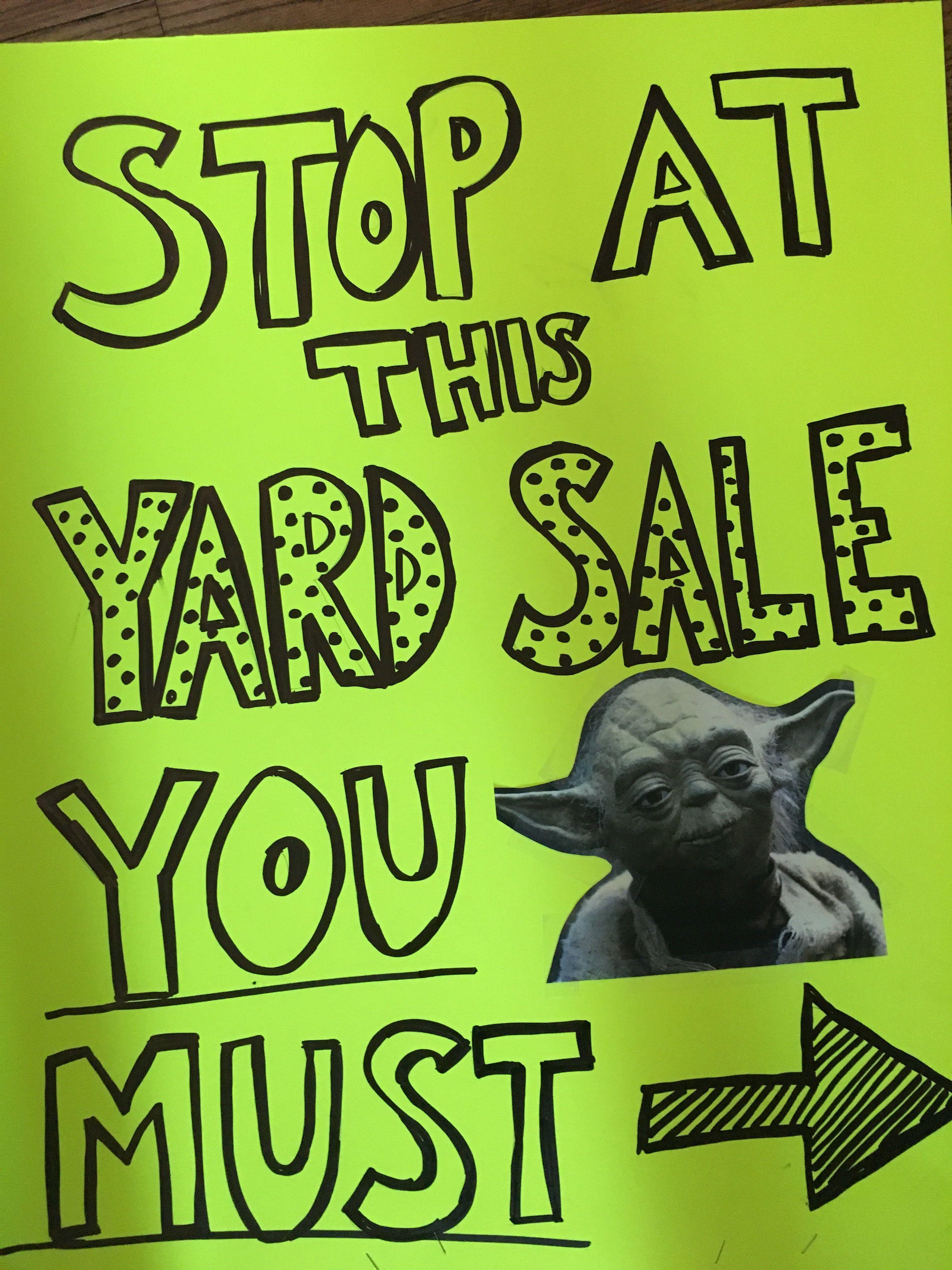 yoda funny yard sign yard ideas yoda yoda funny yard sign
