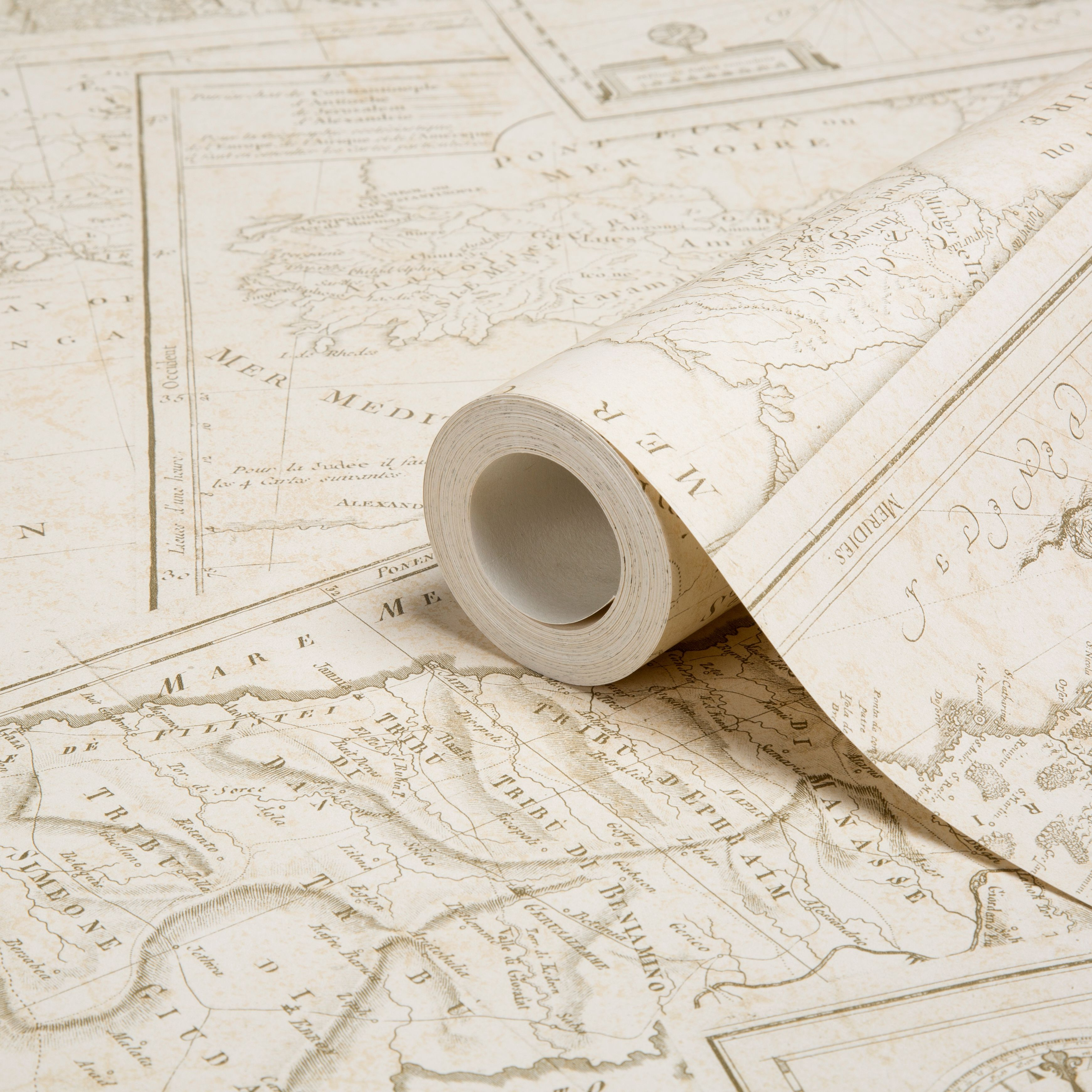 Muriva map wallpaper wallpaper wall papers and boat interior muriva map wallpaper clearance diy at bq gumiabroncs Gallery