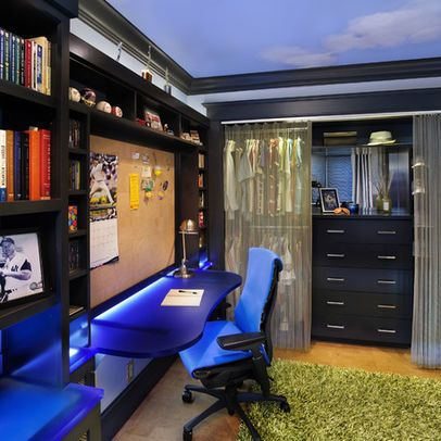 teen boy 39 s bedroom contemporary interesting idea for wall built ins with desk for bug. Black Bedroom Furniture Sets. Home Design Ideas