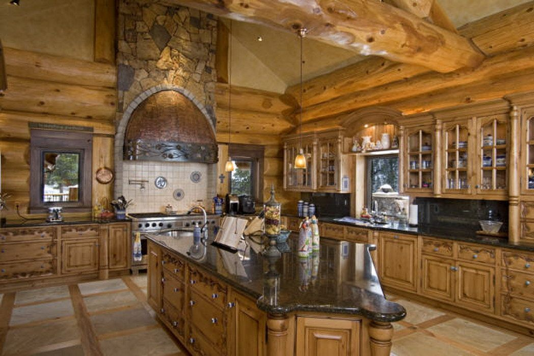 Detail And Innovation Available Seen Hgtv Amazing Log  · Log Cabin KitchensWoodworking  ...