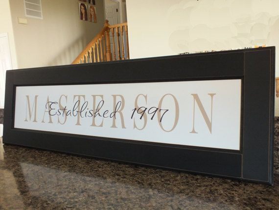 Personalized Family Name Sign Name Frame 13\