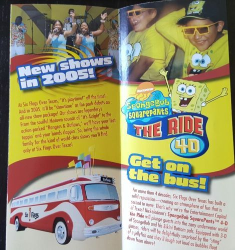 2005 Six Flags Over Texas Amusement Park Brochure Pamphlet Theme Parks Rides Amusement Park Amusement