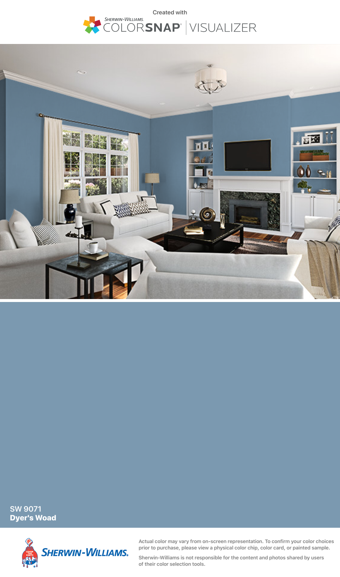 I Found This Color With Colorsnap Visualizer For Iphone By Sherwin Williams Dyer S Woad Paint Colors For Home Sherwin Williams Paint Colors Room Paint Colors