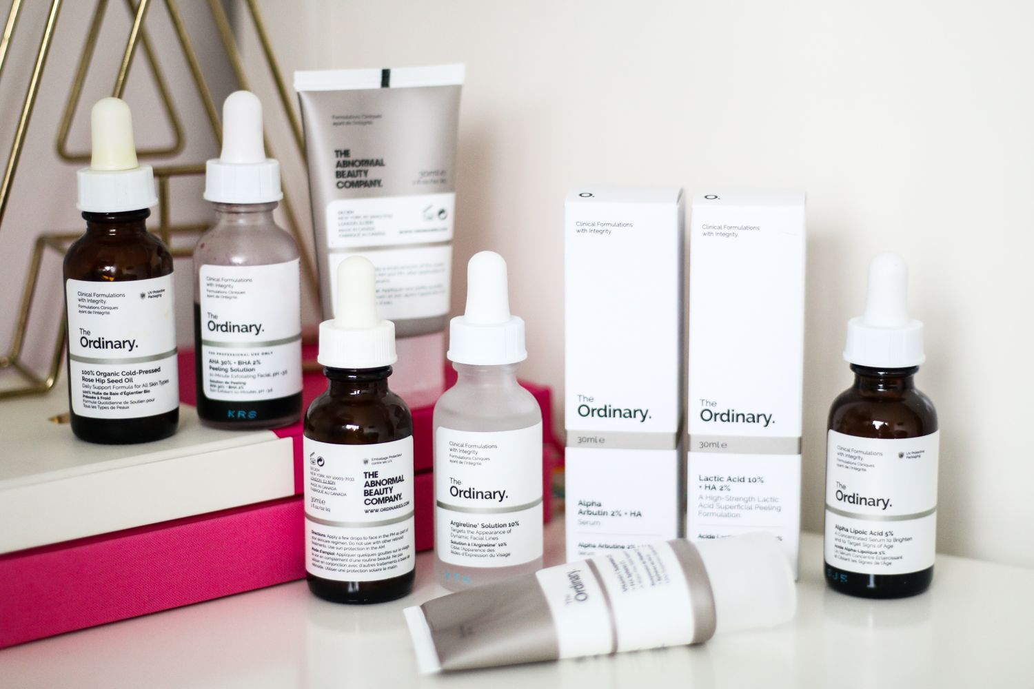 how to layer the ordinary water based products