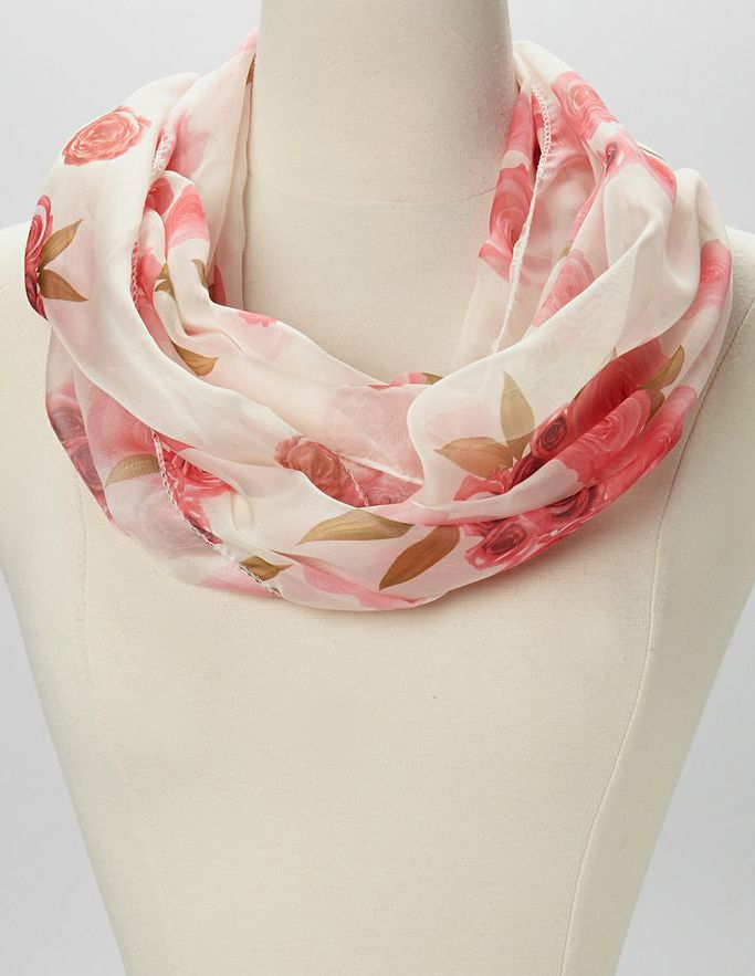 Orange Rose Infinity Scarf | Cosas que me gustan | Pinterest ...