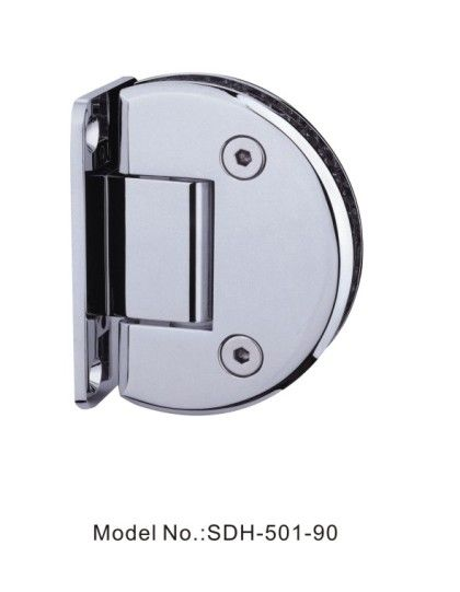 90 Degree Fan Shaped Glass To Wall Shower Door Hinges For 50kg Glass