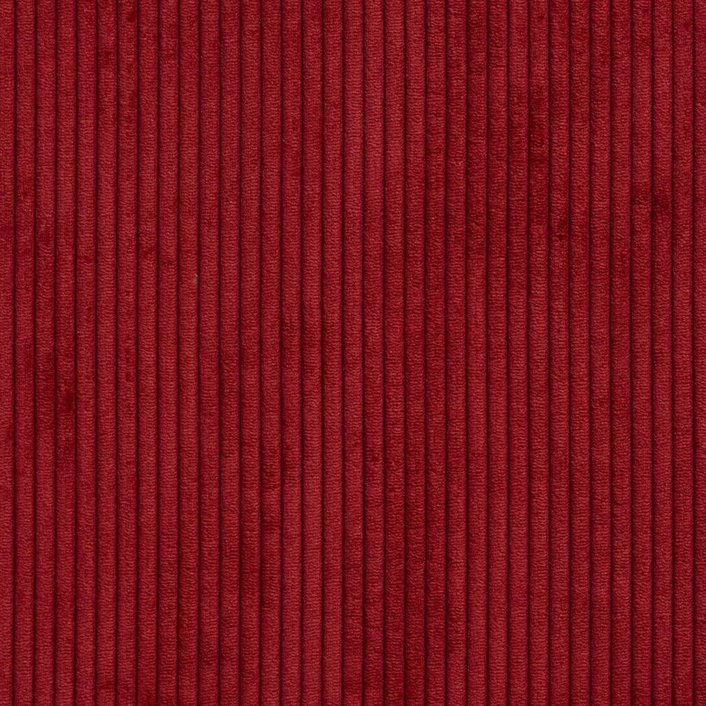 B0700d Deep Red Corduroy Striped Soft Velvet Upholstery Fabric