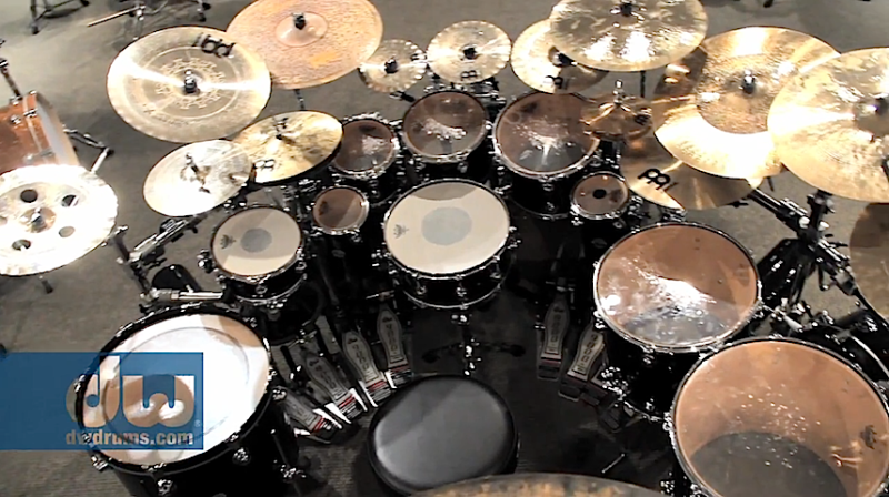 Thomas Lang Drum Kit Small Dw Bing Images Drums Drum Kits Percussion