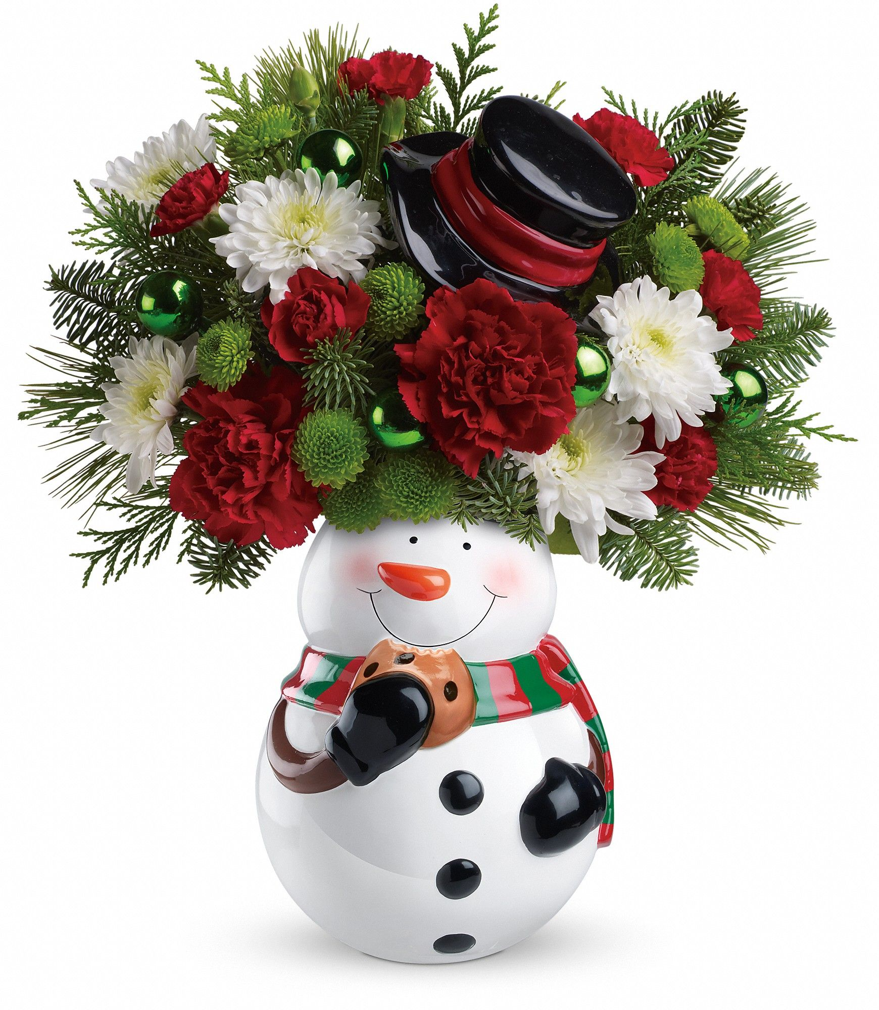 Fresh flowers now and cookies later in this Snowman Cookie