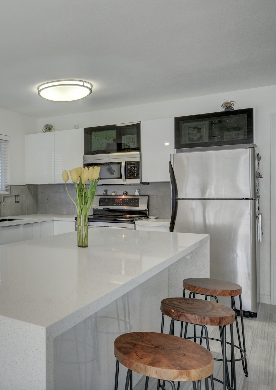 Simple Yet Stunning #kitchendesign By Las Vegas Remodel U0026 Construction. We  Love The Classic White With Natural Wood Touches #ikea #dellaterra ...