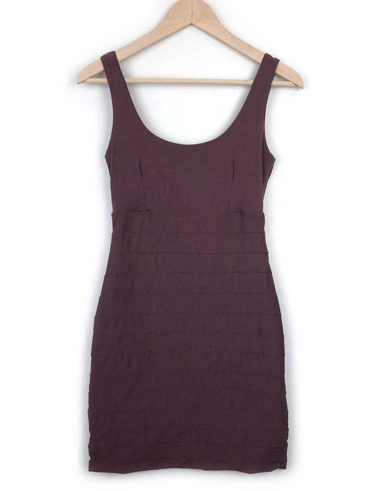 Kookai Bandage Dress Size 1 XS-S Sleeveless Bodycon Fitted Brown Evening  Womens  fashion 4dcb3c270