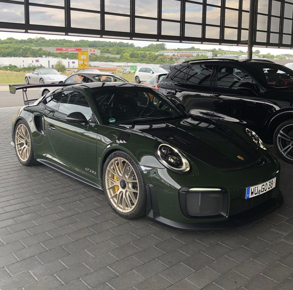 2018 Dark Green Porsche Gt2rs Porsche Cars Porsche Porsche Gt