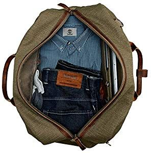 Timberland Jaffrey Water Resistant Covertible Canvas Leather Bag A1LV5  Men s  Amazon.co.uk  Shoes   Bags f9cc78c39cb78