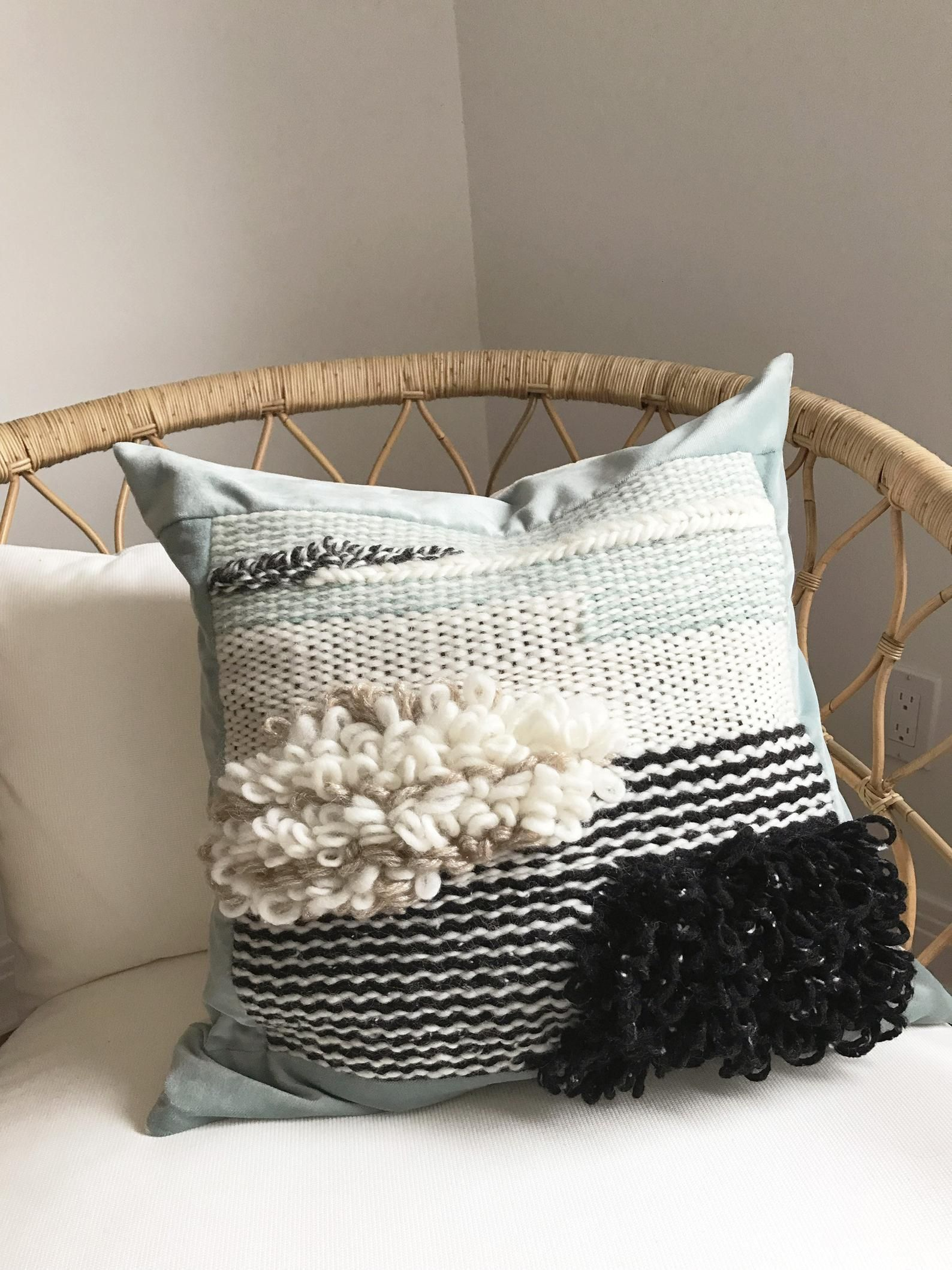 hand woven cushion cover etsy hand