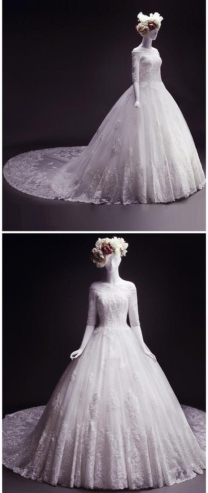 Wedding dresses beach  Beach Wedding DressBall Gown Wedding DressOfftheshoulder Bridal