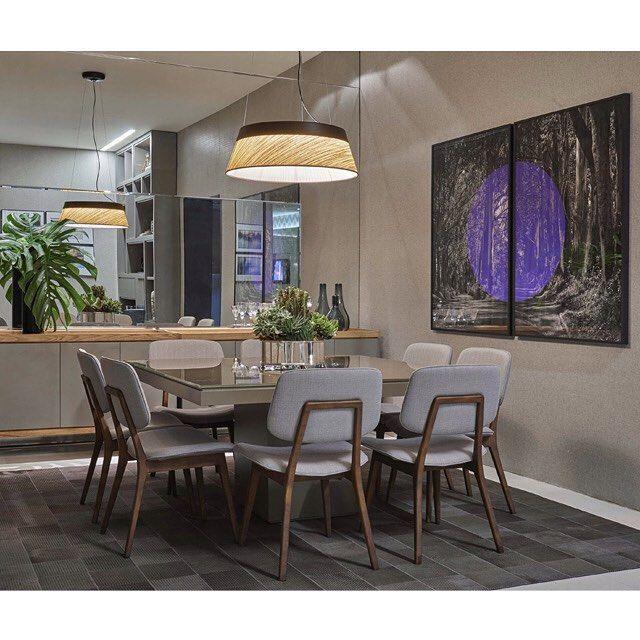 As arquitetas Adriana Caporali e Luciana Lage projetaram para a Decora Lider BH uma sala de jantar com cores neutras que tornam o espaço #aconchegante e confortável, adequado a vários perfis de clientes. @lagecaporali  Foto: Jomar Bragança #liderinteriores #designfeitoparaviver #design #decoração #decoralider
