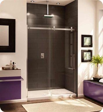 Fleurco Novara In Line 48 Door And Panel Shower Doors Shower Sliding Glass Door Sliding Shower Door