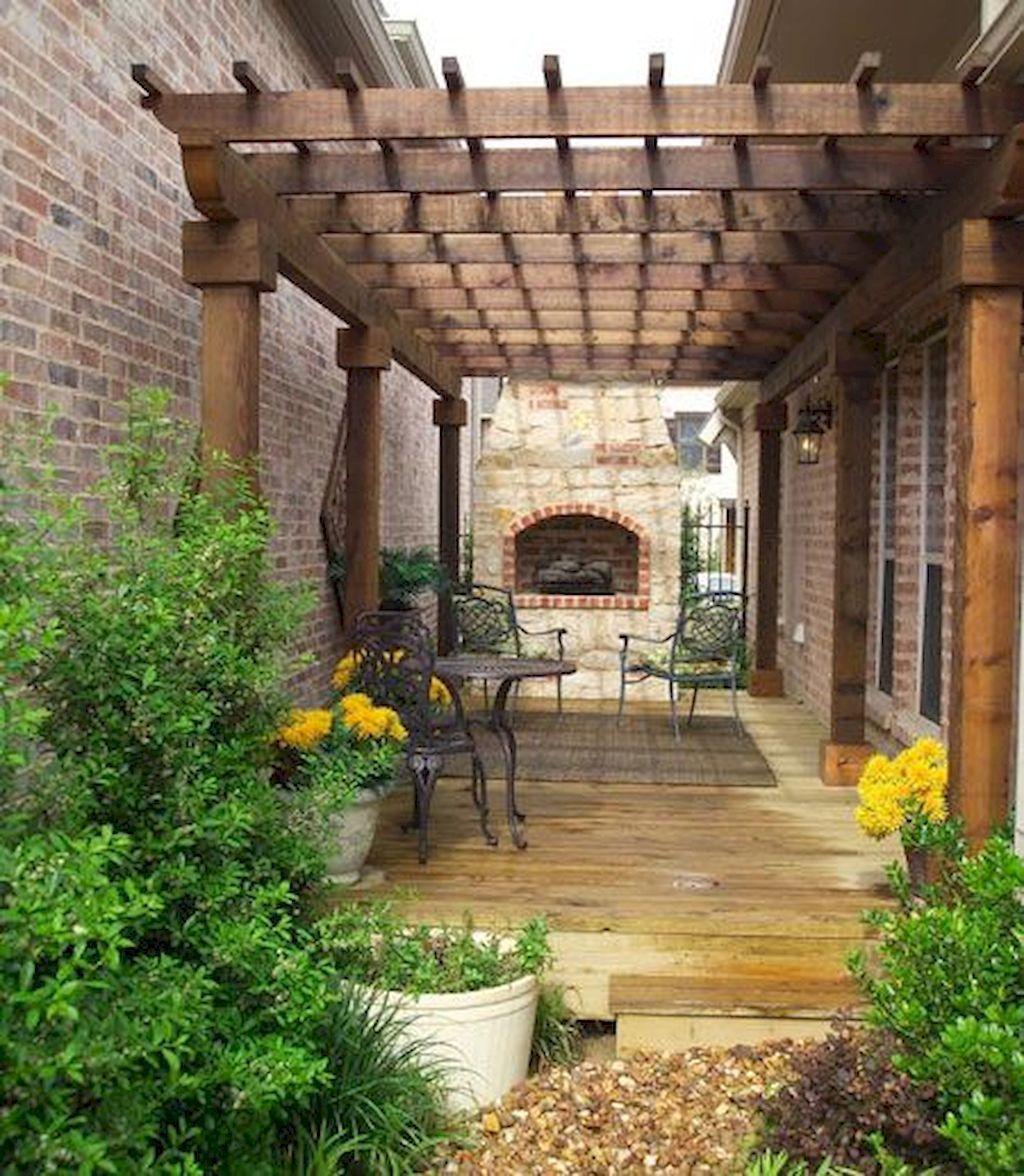 Fresh and Beautiful Side Yard Landscaping Ideas on a ... on Side Yard Pergola Ideas id=40975