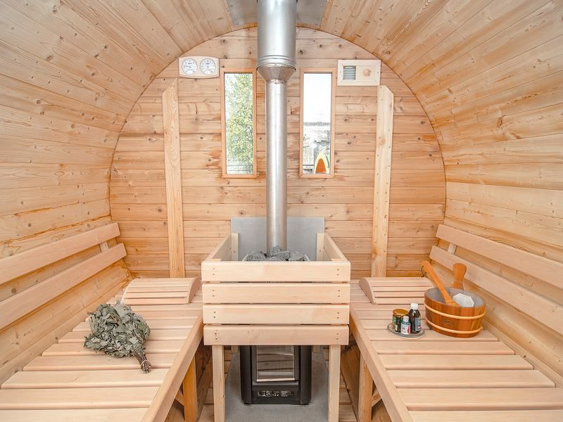 Sauna Tonneau En pica De Sibrie Couv Shingle Long  Cm