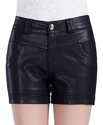 Chouyatou Women's Zipper Closure Faux Leather Shorts *** You can find more details by visiting the image link.