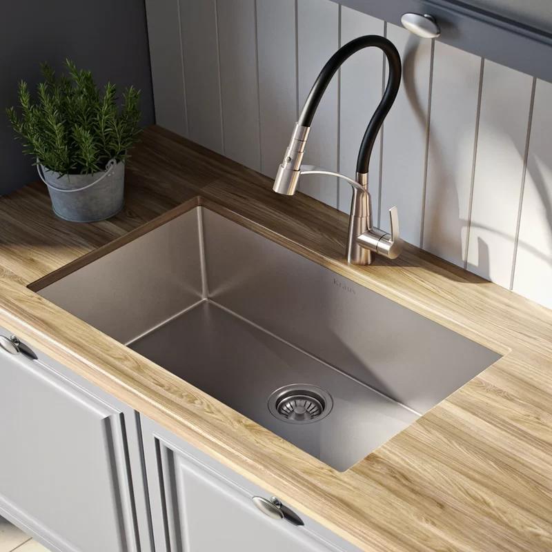 Standart Pro 28 L X 19 W Undermount Kitchen Sink Undermount Kitchen Sinks Sink Single Bowl Kitchen Sink