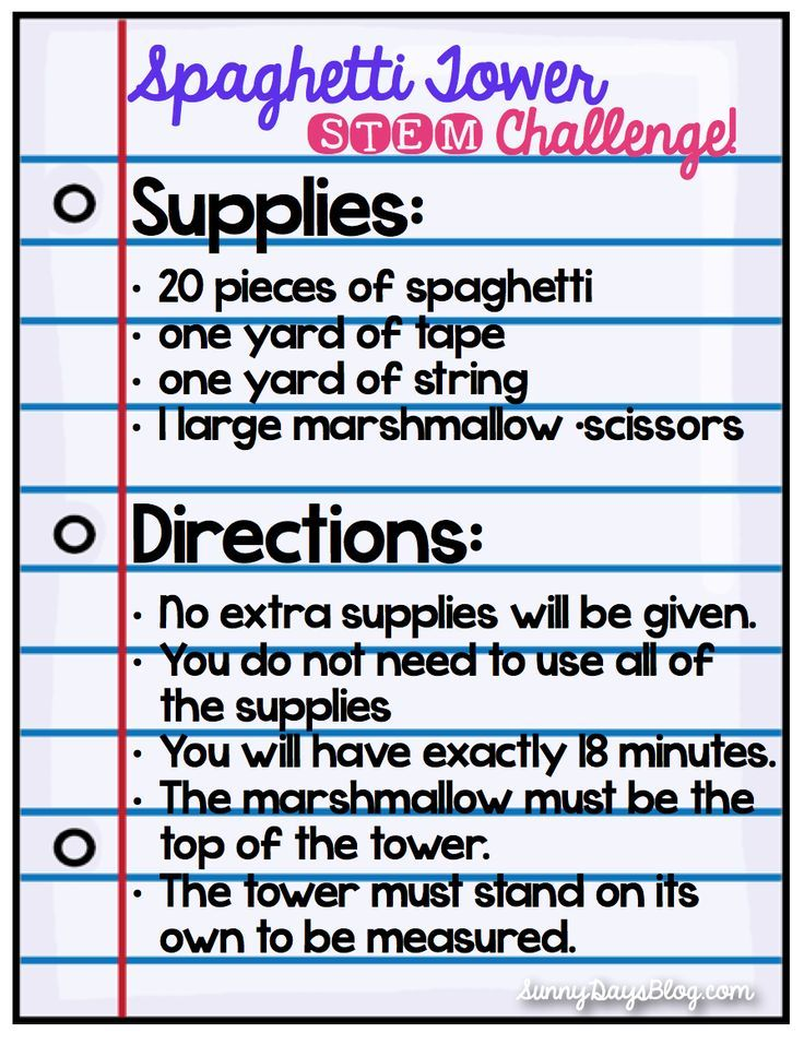 Stem Idea One Of The Most Popular Challenges Is The Spaghetti Tower