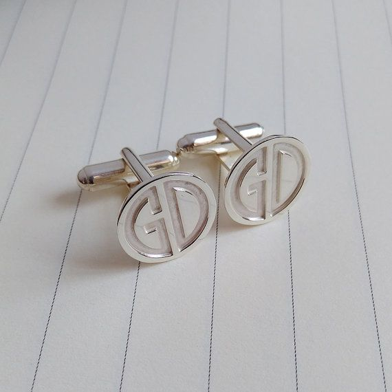 Two Letter Monogram Cufflinks,Wedding Cufflinks,Groom Cufflinks ...