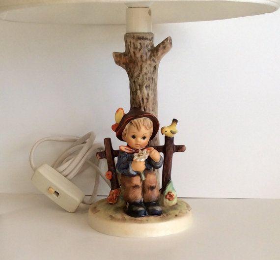 M. I. Hummel Table Lamp She Loves Me She by AtoZCherishedVintage ...