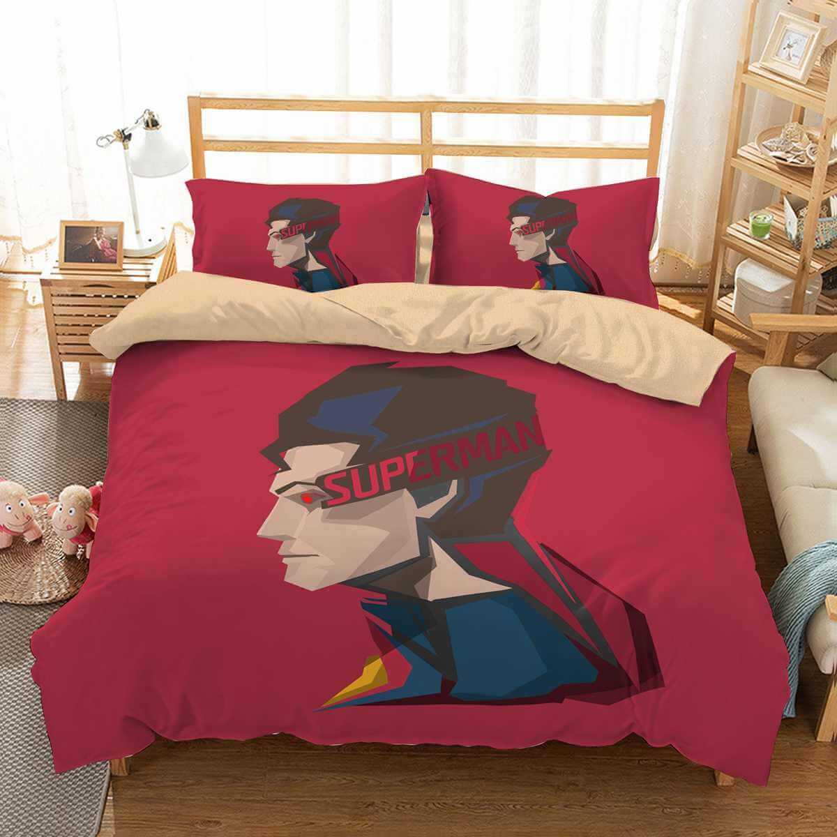 3d Customize Superman Bedding Set Duvet Cover Set Bedroom Set