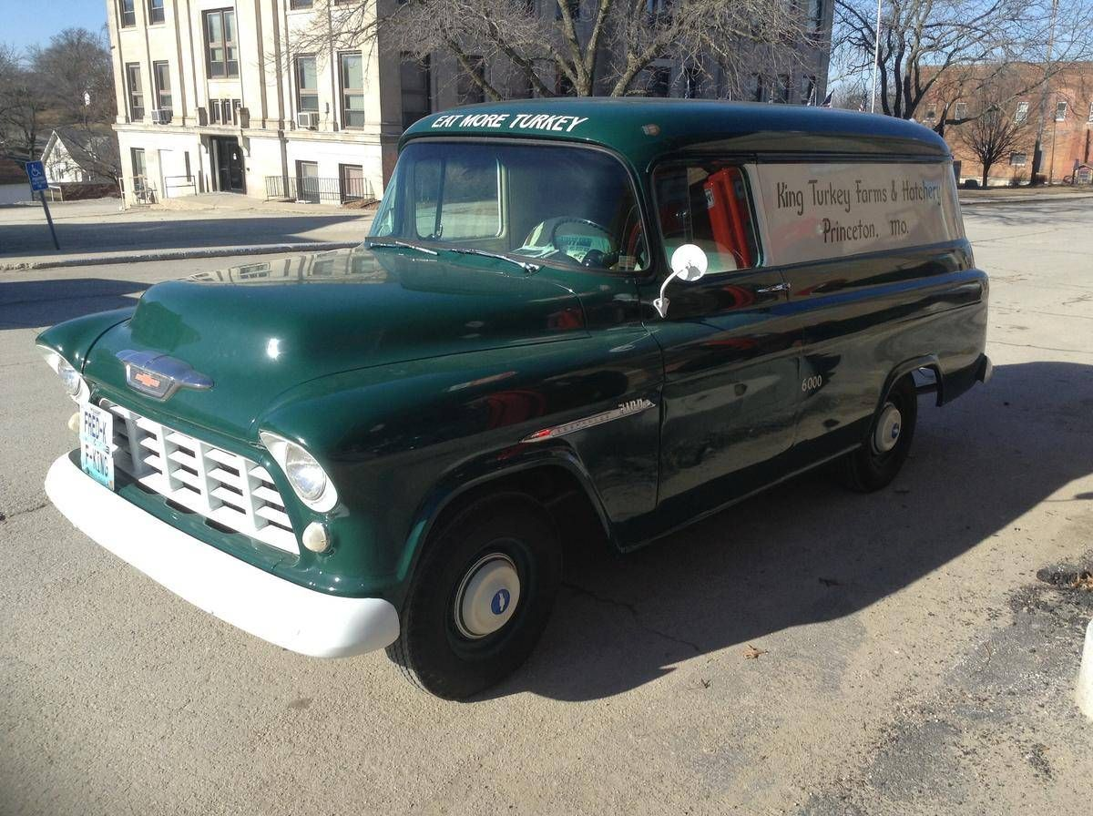 Truck 1955 chevy apache truck for sale : 1955 Chevrolet 3100 Panel | Delivery Truck´s Vintage | Pinterest ...