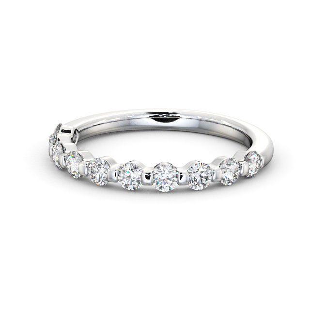 IGI Certificate Round Diamond Bar Set Half Eternity