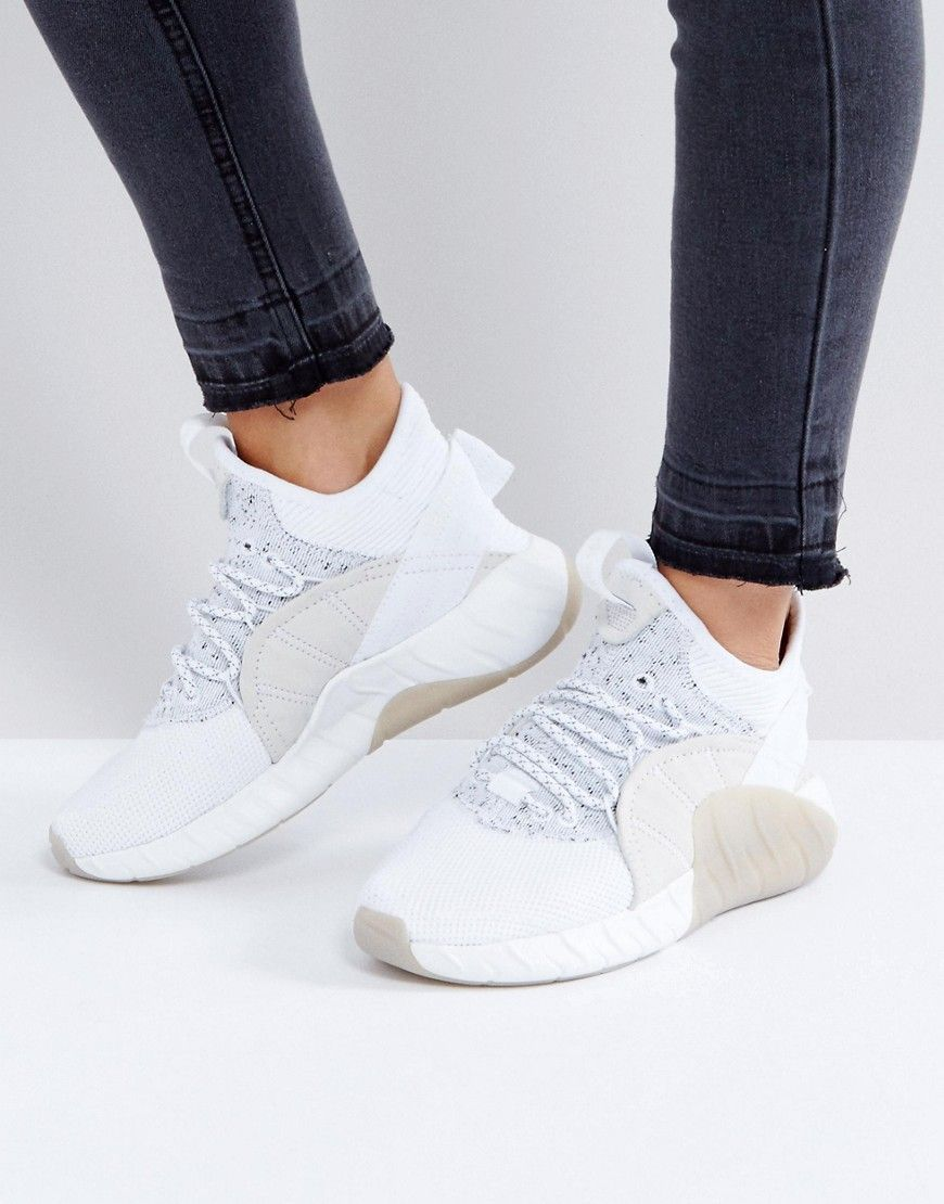 new concept 366fd 9c10d adidas Originals Tubular Rise Sneakers In White - White