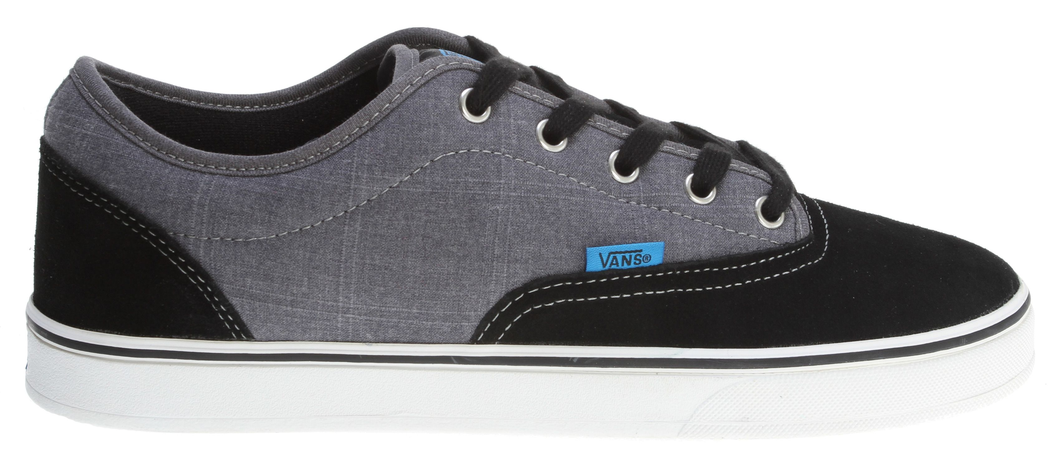 7a23f57f3a Vans AV Era 1.5 Skate Shoes Black Grey Chambray - Men s